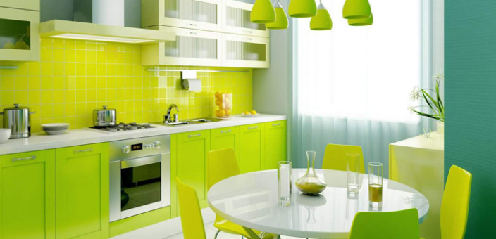 Kuhinje u vedrim bojama